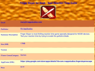 Finger Slayer for Nook - Best Reaction Time Game