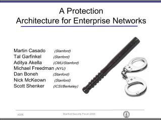 A Protection Architecture for Enterprise Networks