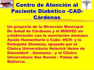 Centro de Atenci n al  Paciente Diab tico -CAD-C rdenas