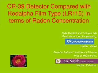 CR-39 Detector Compared with Kodalpha Film Type LR115 in terms of Radon Concentration