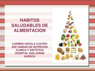 HABITOS SALUDABLES DE ALMENTACION   CARMEN URZOLA CASTRO ENF.UNIDAD DE NUTRICION CLINICA Y DIETETICA HOSPITAL SAN JORGE