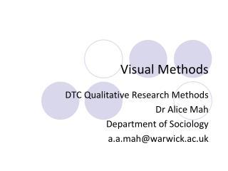 Visual Methods