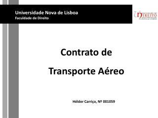 Contrato de  Transporte A reo