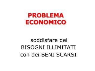 PROBLEMA ECONOMICO