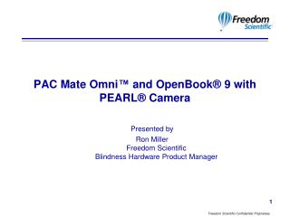 PAC Mate Omni  and OpenBook  9 with PEARL  Camera