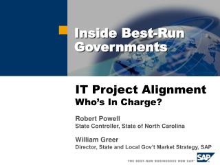 IT Project Alignment Who s In Charge