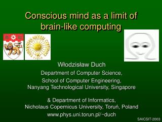 Conscious mind as a limit of  brain-like computing