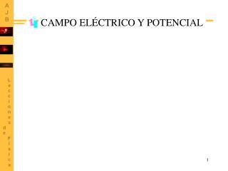 CAMPO EL CTRICO Y POTENCIAL