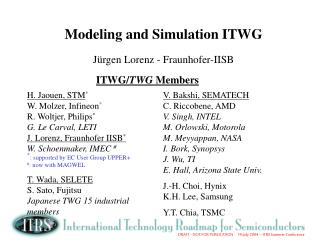 Modeling and Simulation ITWG  J rgen Lorenz - Fraunhofer-IISB