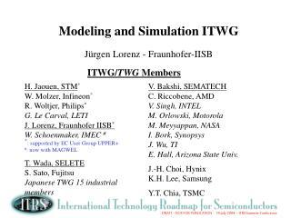 Modeling and Simulation ITWG  J rgen Lorenz - Fraunhofer-IISB