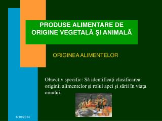 PRODUSE ALIMENTARE DE ORIGINE VEGETALA SI ANIMALA
