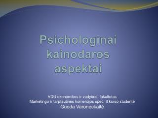 Psichologinai kainodaros aspektai