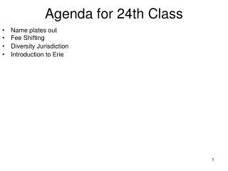 Agenda for 24th Class