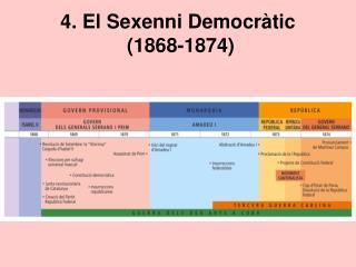 4. El Sexenni Democr tic  1868-1874