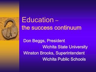 Education     the success continuum