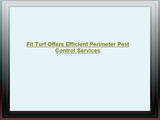 Fit Turf - Perimeter Pest Control Services