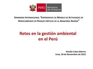 Seminario Internacional  Experiencias de Manejo de Actividades de Hidrocarburos en Paisajes Cr ticos de la Amazonia Andi