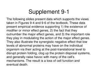 Supplement 9-1
