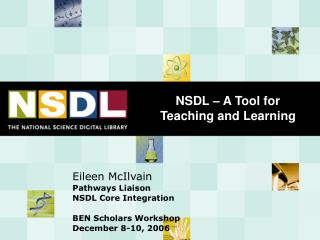 NSDL   A Tool for Teaching and Learning