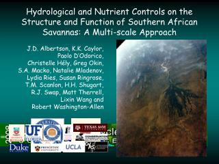 Hydrological and Nutrient Controls on the Structure and Function of Southern African Savannas: A Multi-scale Approach
