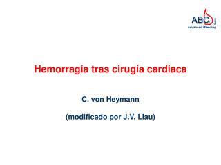Hemorragia tras cirug a cardiaca