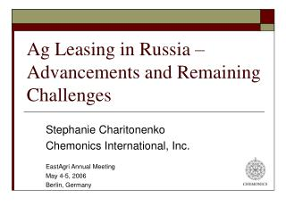 Ag Leasing in Russia   Advancements and Remaining Challenges