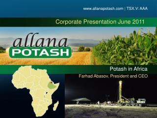 Corporate Presentation June 2011