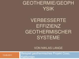 Pr sentation  Geothermie