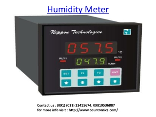 Humidity Meter, Digital Counter, PH Controller
