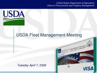 USDA Fleet Management Meeting