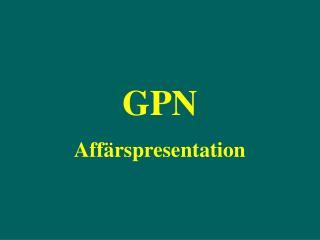 GPN  Aff rspresentation