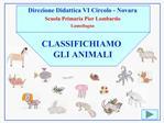 Direzione Didattica VI Circolo - Novara Scuola Primaria Pier Lombardo Lumellogno