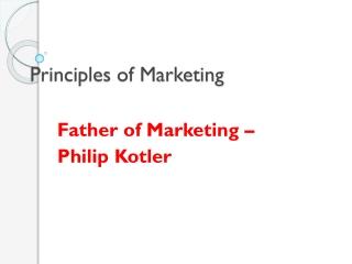 Selling vs. Marketing
