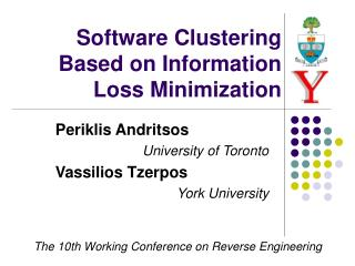 Software Clustering Based on Information Loss Minimization