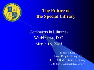 The Future of the Special Library
