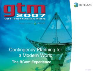 Contingency Planning for a Modern World