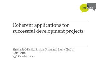 Coherent applications for successful development projects