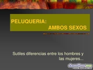 PELUQUERIA:       AMBOS SEXOS