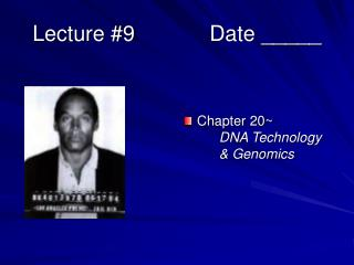 Lecture 9   Date _____
