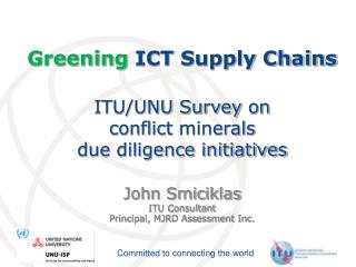 Greening ICT Supply Chains  ITU