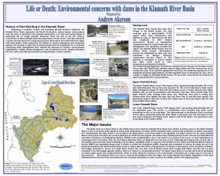 Life or Death: Environmental concerns with dams in the Klamath River Basin
