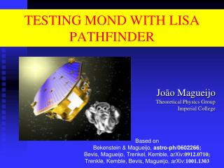 TESTING MOND WITH LISA PATHFINDER