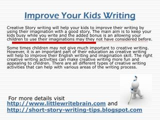 Improve Your Kids Writing