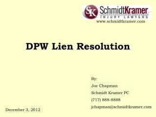 DPW Lien Resolution