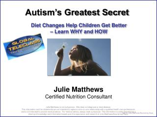 Diet Changes Help Children Get Better    Learn WHY and HOW