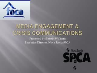 Media engagement   Crisis communications