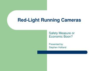Red-Light Running Cameras