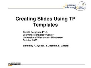 Creating Slides Using TP Templates
