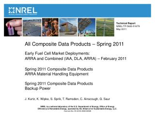 Technical Report  NREL