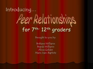 For 7th- 12th graders